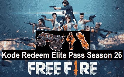 Kode Redeem FF Elite Pass Season 26 Masih Aktif1 min
