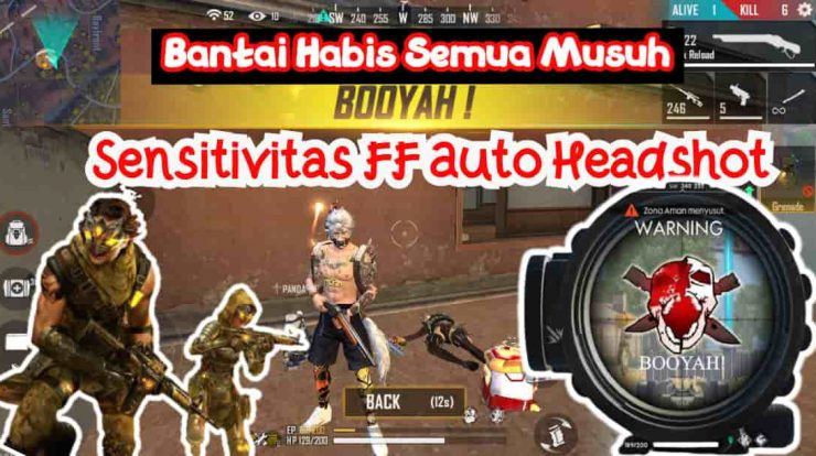 Sensitivitas FF Auto Headshot